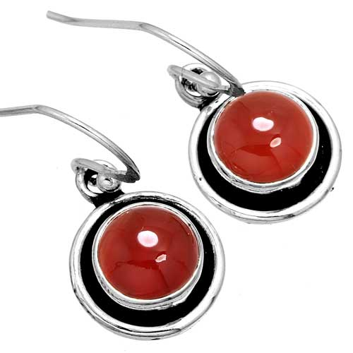 Wholesale Extended Line of Wholesale Earrings (Product ID = 10056_E_Red_Onyx_3.40)