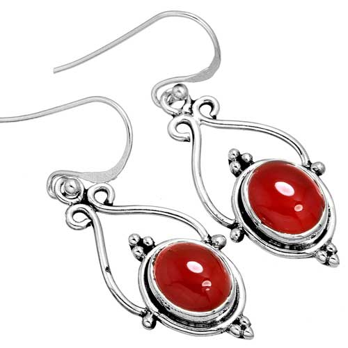 Wholesale Extended Line of Wholesale Earrings (Product ID = 10064_E_Red_Onyx_4.60)