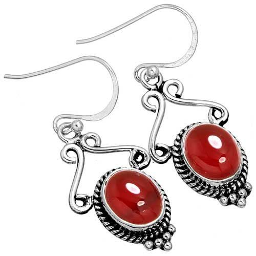 Wholesale Extended Line of Wholesale Earrings (Product ID = 10067_E_Red_Onyx_4.40)