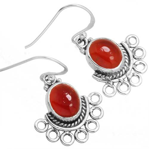 Wholesale Extended Line of Wholesale Earrings (Product ID = 10392_E_Red_Onyx_4.40)