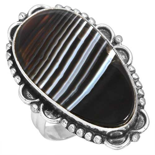 Wholesale Extended Line of Wholesale Rings (Product ID = 16776_R7_Black_Botswana_Agate_6.10)