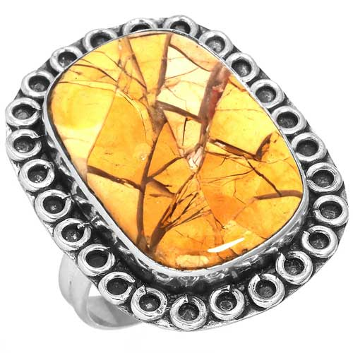 Wholesale Extended Line of Wholesale Rings (Product ID = 16914_R8_Brecciated_Mookaite_6.50)