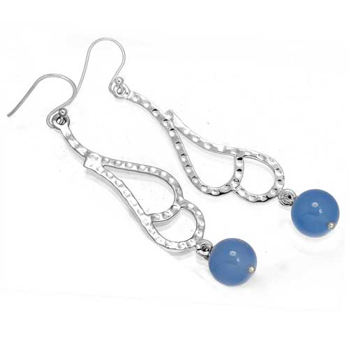 Wholesale Extended Line of Wholesale Earrings (Product ID = 7921_E_Blue_Chalcedony_5.80)