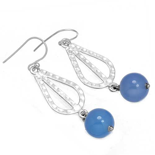 Wholesale Extended Line of Wholesale Earrings (Product ID = 8115_E_Blue_Chalcedony_5.40)