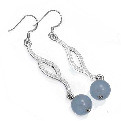 Wholesale Extended Line of Wholesale Earrings (Product ID = 8117_E_Blue_Chalcedony_4.80)