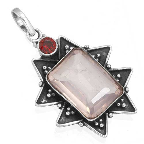 Wholesale Extended Line of Wholesale Pendants (Product ID = 8159_P_Rose_Quartz_3.70)
