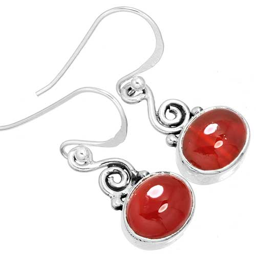 Wholesale Extended Line of Wholesale Earrings (Product ID = 9995_E_Red_Onyx_3.20)
