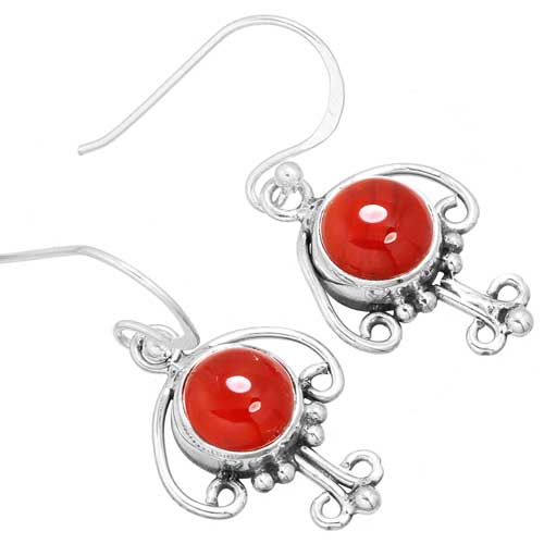 Wholesale Extended Line of Wholesale Earrings (Product ID = 9997_E_Red_Onyx_3.30)
