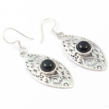Wholesale Closeout jewelry wholesale silver (Product ID = E034BLK)