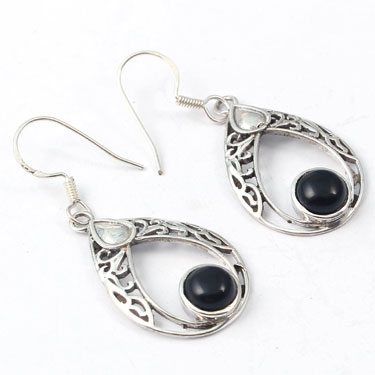 Wholesale Closeout jewelry wholesale silver (Product ID = E038BLK)