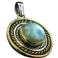 Wholesale Silver & Brass Pendants with Natural Gemstones (Product ID = psb17rm)