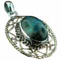 Wholesale Silver & Brass Pendants with Natural Gemstones (Product ID = psb301lb)