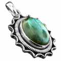 Wholesale Silver & Brass Pendants with Natural Gemstones (Product ID = psb37lb)