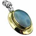 Wholesale Silver & Brass Pendants with Natural Gemstones (Product ID = psb474bc)