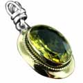 Wholesale Silver & Brass Pendants with Natural Gemstones (Product ID = psb474lt)