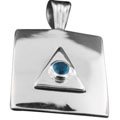 Wholesale Silver Pendants (Product ID = srp336bl)