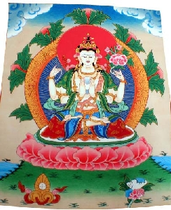 Wholesale Buddhist Thangka Paintings From Nepal (Product ID =