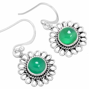 Sterling Silver Gemstone Earrings (10009)