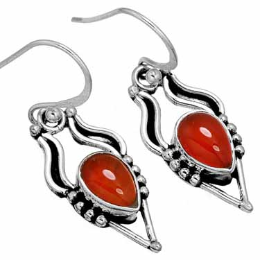 Sterling Silver Gemstone Earring (10061)