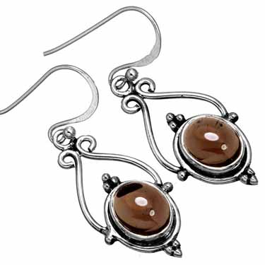 wholesale Wholesale Sterling Silver Gemstone Earrings (10150)