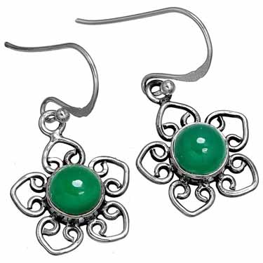 Sterling Silver Gemstone Earring (10173)
