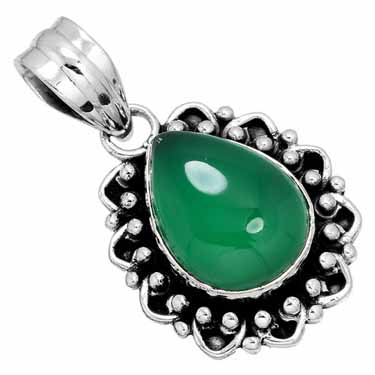 Sterling Silver Gemstone Pendant (10186)