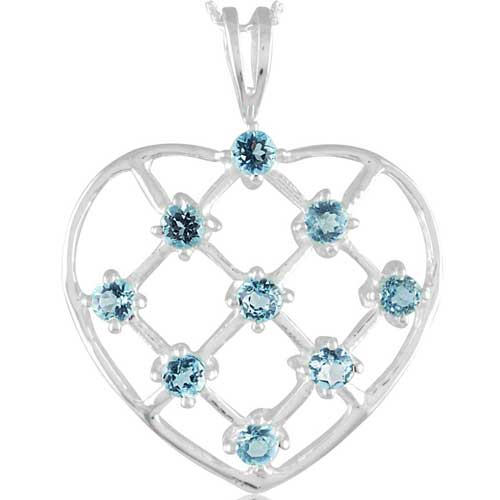 Sterling Silver Gemstone Pendant (1047)