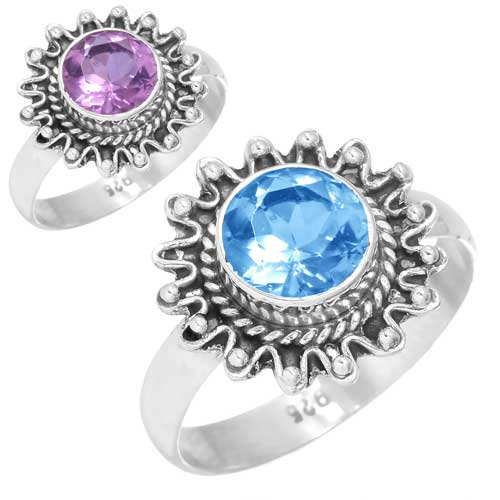 wholesale Wholesale Sterling Silver Gemstone Ring (11649_R6_Alexandrite_ 3.30)