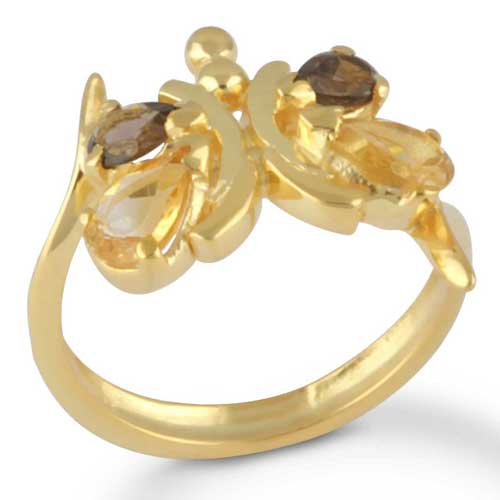wholesale Wholesale Sterling silver gemstone ring (1376_R8_Citrine_3.41)