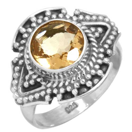 wholesale Wholesale Sterling silver gemstone ring (15025_R6_Citrine_4.10)