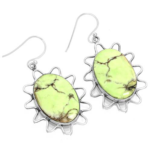 wholesale Wholesale Sterling Silver Gemstone Earrings (18048_E)