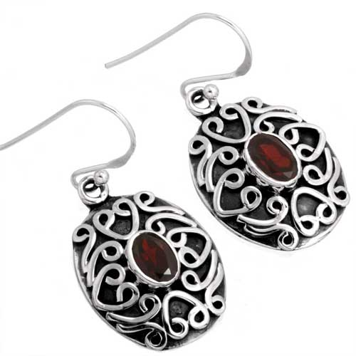 wholesale Wholesale Sterling Silver Gemstone Earrings (26221_E)