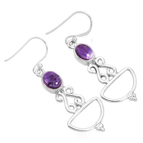 wholesale Wholesale Sterling Silver Gemstone Earrings (26250_E)