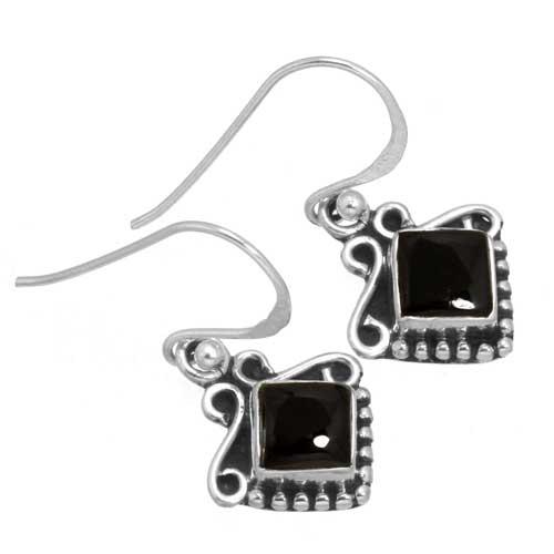 Sterling silver Green Onyx (10mm) Earring ID=26277_1