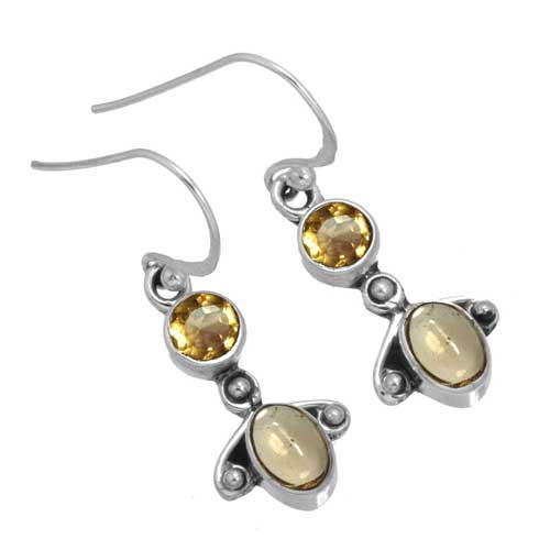 Sterling silver Citrine Earring ID=26299_1