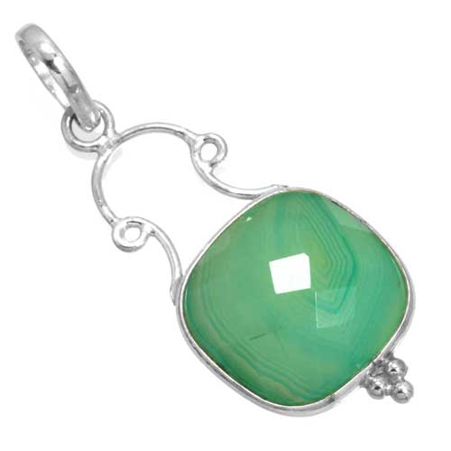 wholesale Wholesale Sterling Silver Gemstone Pendant (26313_P)