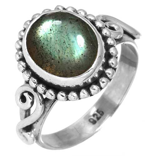 wholesale Wholesale Sterling Silver Gemstone Ring (26963_R9)