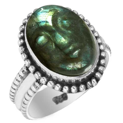 wholesale Wholesale Sterling Silver Gemstone Ring (28548_R6)