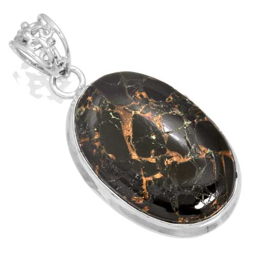wholesale Wholesale Sterling Silver Gemstone Pendant (30767_P)