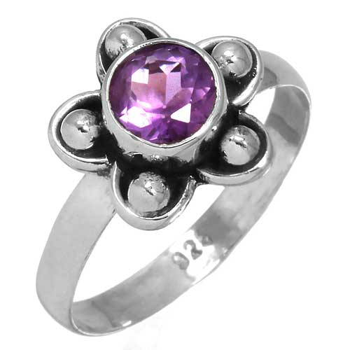 wholesale Wholesale Sterling Silver Gemstone Ring (31392_R7)