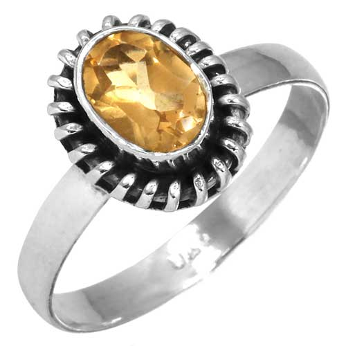wholesale Wholesale Sterling Silver Gemstone Ring (31402_R7)