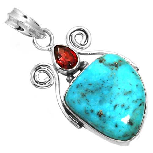 wholesale Wholesale Sterling Silver Gemstone Pendant (31464_P)