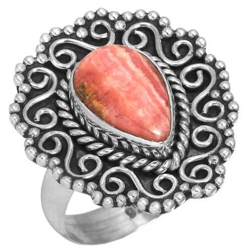 wholesale Wholesale Sterling Silver Gemstone Ring (31547_R7)
