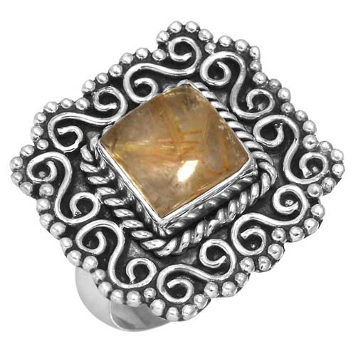 wholesale Wholesale Sterling Silver Gemstone Ring (31566_R7)