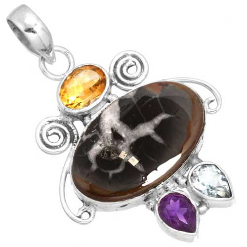 wholesale Wholesale Sterling Silver Gemstone Pendant (31762_P)