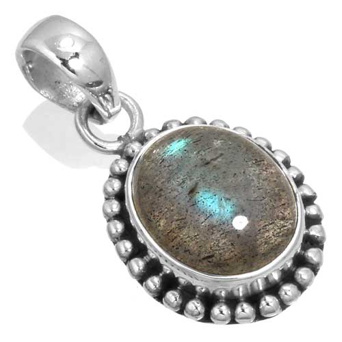 wholesale Wholesale Sterling Silver Gemstone Pendant (33520_P)