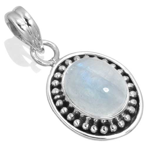 wholesale Wholesale Sterling Silver Gemstone Pendant (33549_P)