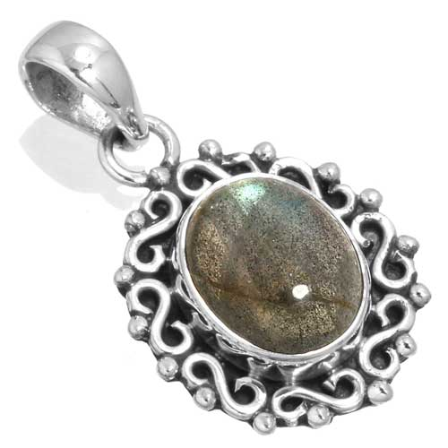 wholesale Wholesale Sterling Silver Gemstone Pendant (33571_P)