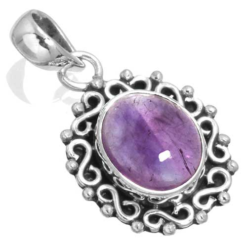 wholesale Wholesale Sterling Silver Gemstone Pendant (33573_P)