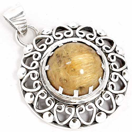 wholesale Wholesale Sterling Silver Gemstone Pendant (3527)
